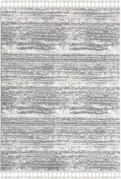 Payidar Halı Moroccan 2778A 80 x 150 cm Beyaz-Gri Saçaklı Modern Halı