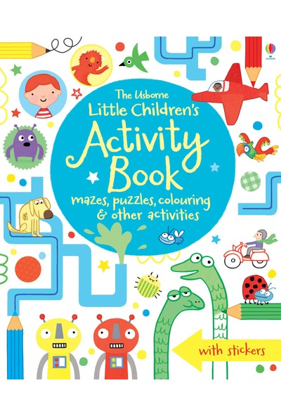 Little Children'S Activity Book: Mazes, Puzzles And Coloring