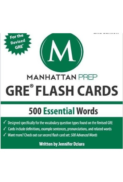 Gre Flash Cards 500 Essential Words