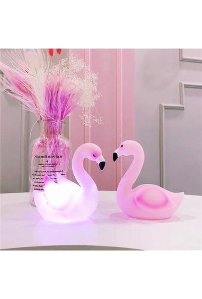 Orjinal Dükkan Flamingo Silikon Led Işıklı Gece Lambası
