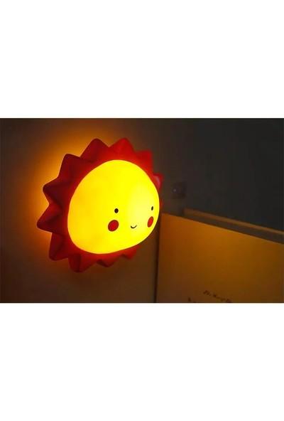 Orjinal Dükkan Led Işıklı Güneş Silikon Gece Lambası