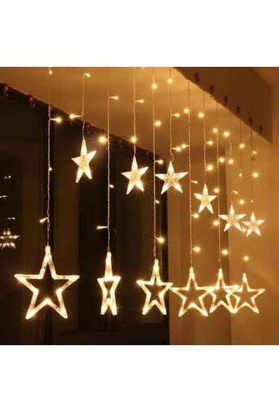 Orjinal Dükkan Yıldızlı Perde Salkım Saçaklı Led Işıklar Animasyonlu