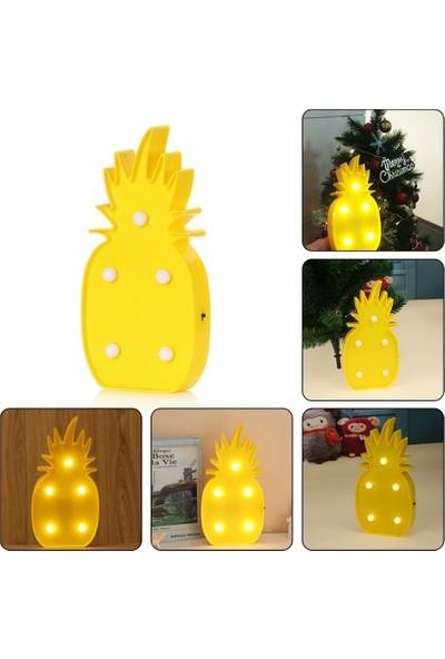 Orjinal Dükkan Ananas Led Işıklı Masa Duvar Gece Lambası
