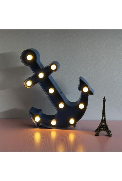 Orjinal Dükkan Çapa Dekoratif Led Işıklı Masa Duvar Gece Lambası