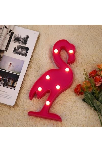 Orjinal Dükkan Flamingo Led Işıklı Masa Duvar Gece Lambası