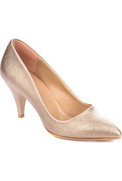 Fox Shoes Platin Kadın Topuklu Ayakkabı A922151109