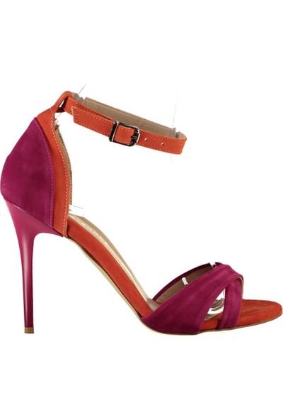 Fox Shoes Fuşya Turuncu Kadın Topuklu Ayakkabı B922113802