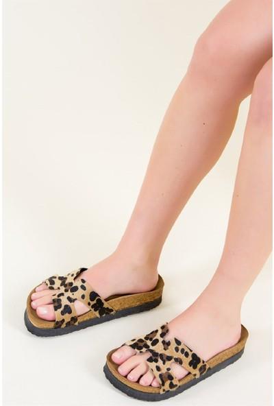 Fox Shoes Leopar Kadın Terlik F777771502