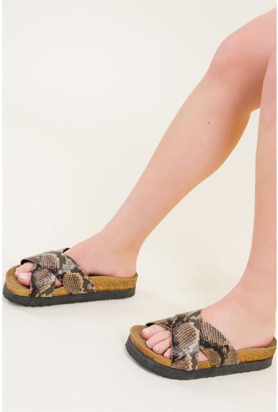Fox Shoes Taba Kadın Terlik B777742207