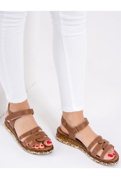 Fox Shoes Taba Kadın Sandalet F288091109
