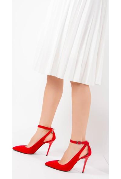 Fox Shoes Kırmızı Kadın Topuklu Ayakkabı F922154002