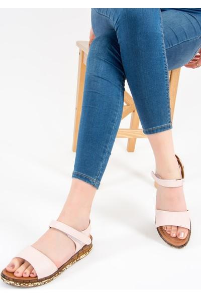 Fox Shoes Pudra Kadın Sandalet F288061309