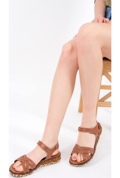 Fox Shoes Taba Kadın Sandalet F288061409