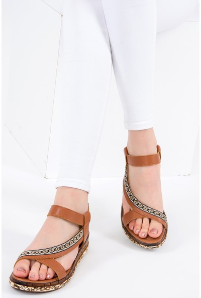 Fox Shoes Taba Kadın Sandalet F288091009