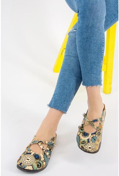 Fox Shoes Renkli Kadın Terlik F618583309