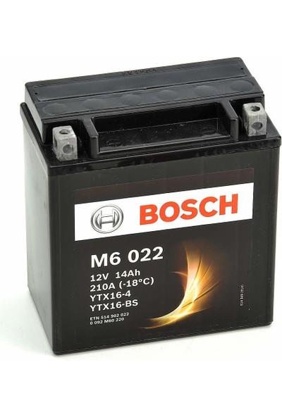 Bosch 14 Amper AGM Motosiklet Aküsü M6022