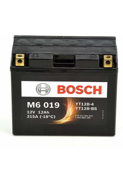 Bosch 12 Amper AGM Motosiklet Aküsü (Mercedes Yedek Akü) M6019