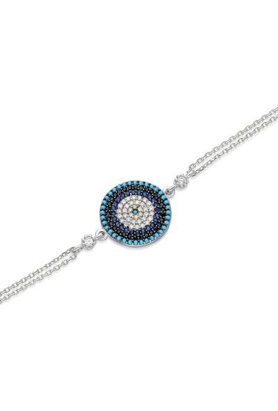 İpek Silver Bo230 Nazar Boncuğu Gümüş Bileklik