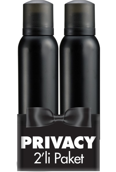 Privacy Man Erkek Deodorant 2'li Avantaj Paketi 150 ml