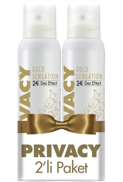 Privacy Gold Woman Kadın Deodorant 2'li Avantaj Paketi 150 ml