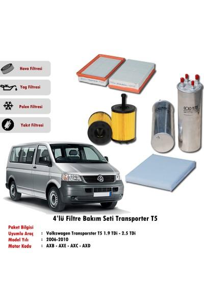 Gold Filter Vw Transporter T5 2.5 Tdi Filtre Bakım Seti (2003-2010)(4Lü)