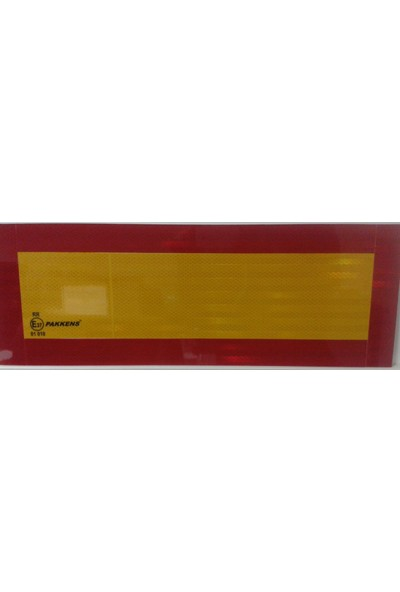 Pakkens Tır Arkası İşaret Reflektörü 565Mm X 200Mm E37 Onaylı