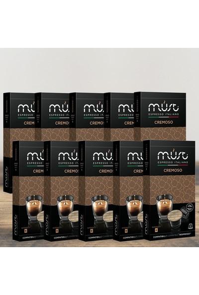 Must Espresso Italiano 10'lu Avantaj Paketi Cremoso – Nespresso Uyumlu Kahve Kapsülleri