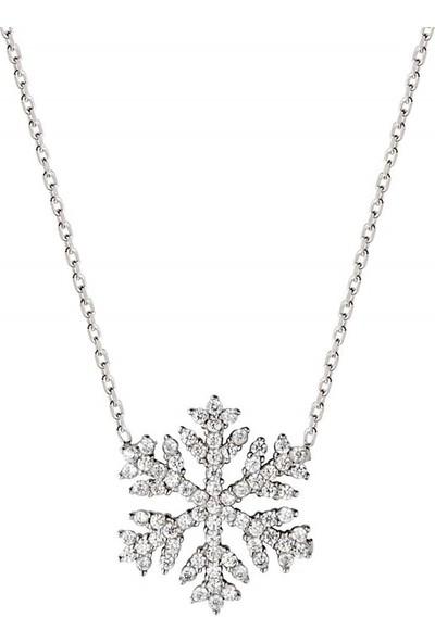 Afrodit Silver Kar Tanesi Tasarım Gümüş Kadın Kolye