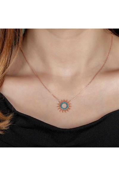 Afrodit Silver Güneş Tasarım Gümüş Kadın Kolye