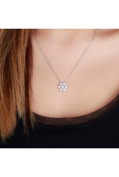Afrodit Silver Kar Tanesi Semböllü Tasarım Gümüş Kadın Kolye