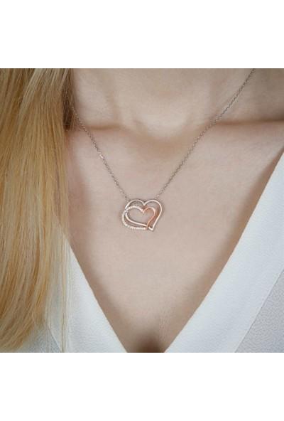 Afrodit Silver Kalpli Tasarım Gümüş Kadın Kolye