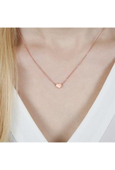 Afrodit Silver Kalp Tasarım Gümüş Kadın Kolye