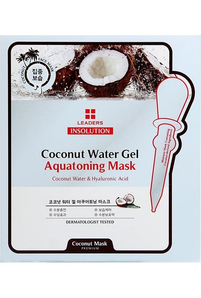 Leaders Insolution Coconut Water Gel Aquatoning Mask