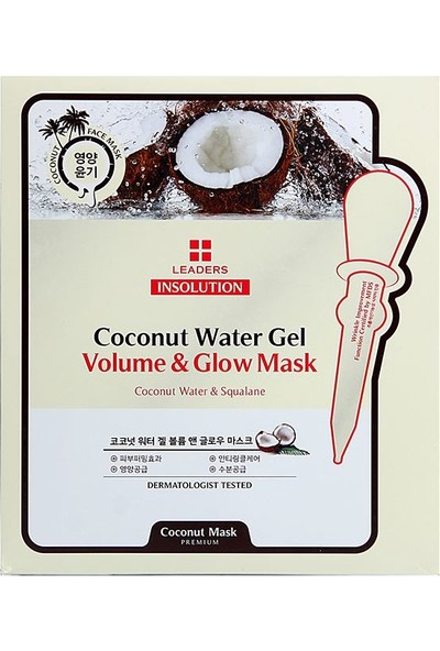 Leaders Insolution Coconut Water Gel Volume & Glow Mask