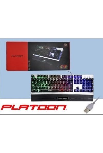 Syronix Platoon PL-466 Blade Metal Gövdeli Işıklı Oyuncu Klavye