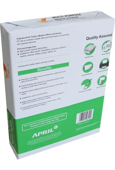 April Pp Lite A4 Beyaz Fotokopi Kağıdı 1 Koli 5 Paket 2500 Sayfa