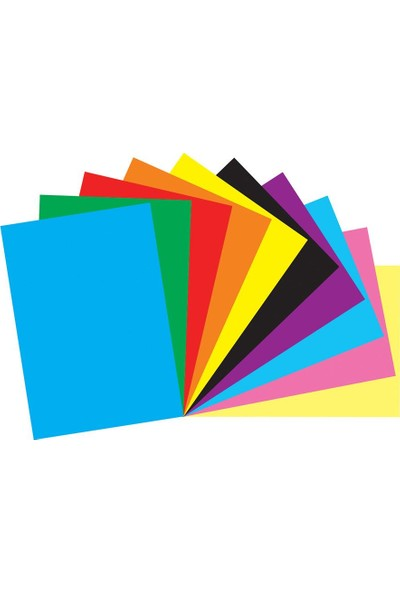 Color Liva Mondi Fon Kartonu 10 Renk Karışık 50X70 50'Li Paket