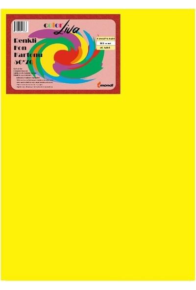 Color Liva Mondi Fon Kartonu Sarı 50X70 100'lü Paket