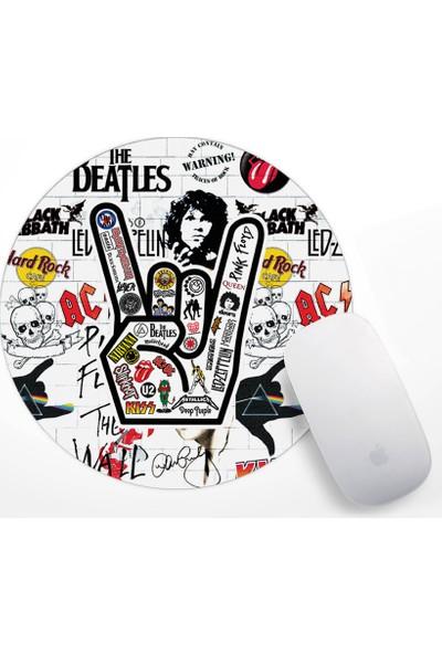 If Dizayn Rock Müzik iconları Mouse Pad