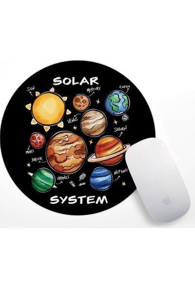 If Dizayn Güneş Sistemi ve Gezegenler Mouse Pad