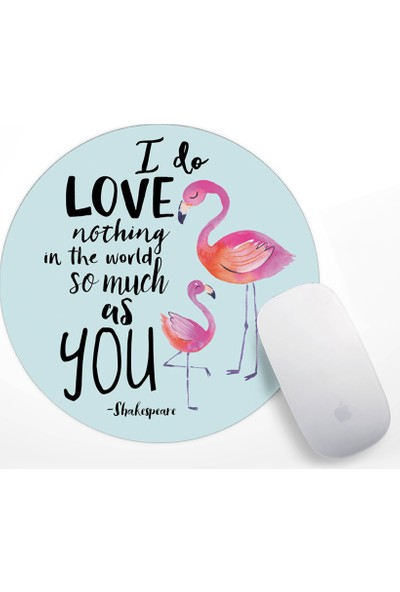 If Dizayn Flamingo Tasarım Mouse Pad