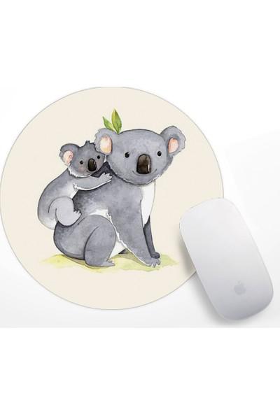 If Dizayn Koala ve Yavru Koala Tasarım Mouse Pad