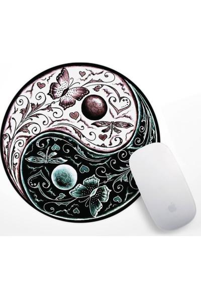 If Dizayn Yin Yang Tasarım Mouse Pad