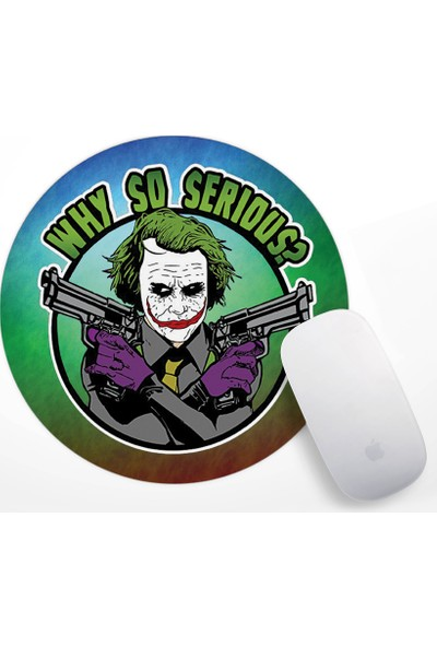 If Dizayn The Joker Why so serious Mouse Pad