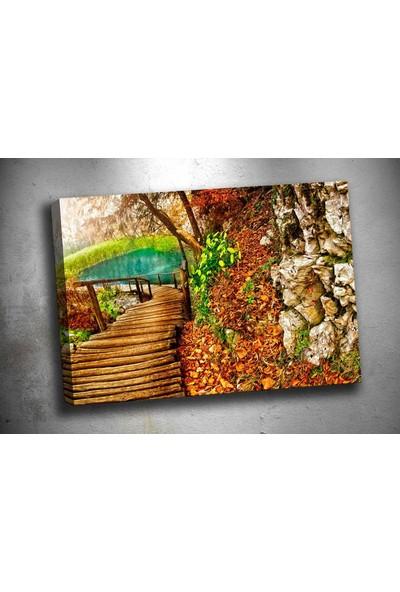 Caddeko sz1877 Ağaç Yol Kanvas Tablo 70 x 100 cm