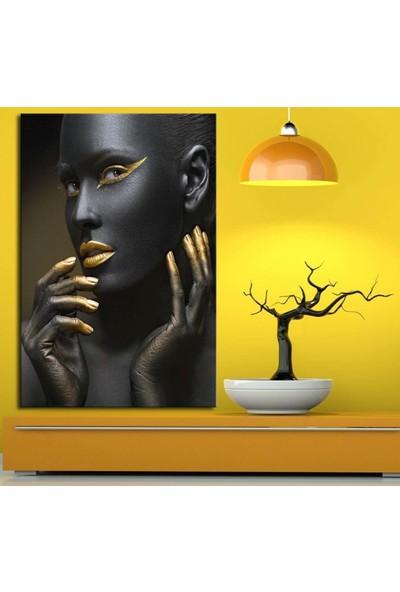 Caddeko zk3 Afrikalı Kadın Tabloları El ve Yüz 70 x 100 cm