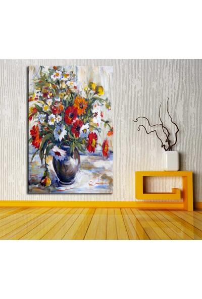 Decobritish dik-dkr14 Vazo Çiçek Yağlı Boya Görünümlü Kanvas Tablo 70 x 100 cm