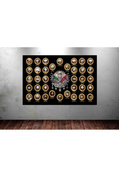 Caddeko zz290 Osmanlı Padişahları ve Kanvas Tablo 70 x 100 cm
