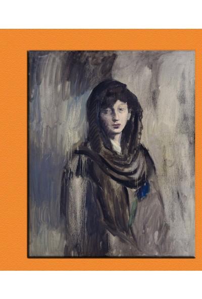 Caddeko Picasso Fernande con una mantiglia nera 70 x 100 cm