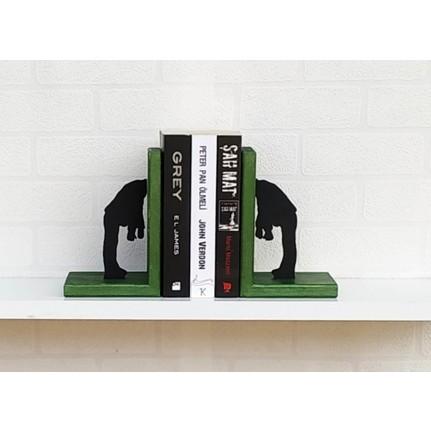 Mutlu Panda Kitap Destegi Ahsap Kitap Kurdu Yesil Fiyati